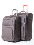 Two brown travel bag Royalty Free Stock Image