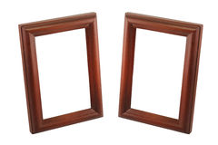 Two brown wooden frame Royalty Free Stock Image