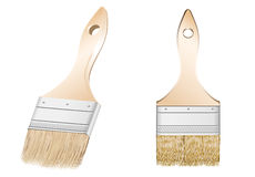 Two brushes. Vector image two  brush for  paint Stock Images