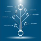 Concept Infographics Tree Royalty Free Stock Images