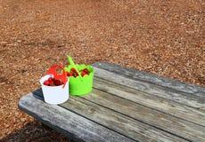 Two Bucket Ripe Strawberries Stock Image