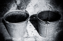 Two buckets Royalty Free Stock Images
