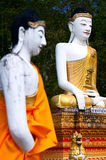 Two Buddha. In Mae Hong Son. It is located in the north of Thailand royalty free stock image