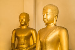 Two buddha. Meditation two buddha in thailand Royalty Free Stock Photography