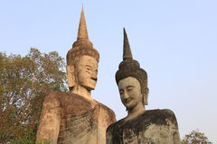 The Two buddha sculpture royalty free stock images