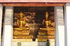 Two Buddha statue, Thai style. Royalty Free Stock Images