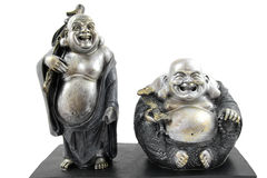 Two Buddha statues Royalty Free Stock Image