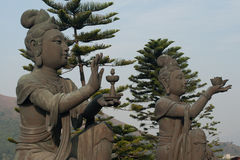 Two buddha statues in Hong Kong Royalty Free Stock Image