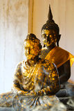 Two Buddha With Smoke Foreground Stock Photography