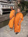Two buddhist monks Royalty Free Stock Photos