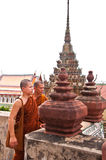 Two Buddhist monks Stock Photography