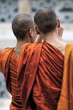 Two buddhist monks, Thailand. Royalty Free Stock Images
