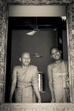 Two Buddhist monks of Wat Damnak, Siem Reap, Cambodia Stock Photography