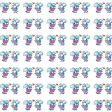 Small cats, paper gift or cloth, pattern, repeating pattern, Royalty Free Stock Photography
