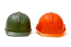 Two Builders Helmet Royalty Free Stock Images