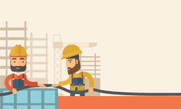 Two builders Royalty Free Stock Photos