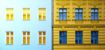 Two buildings abstract Royalty Free Stock Photo