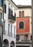 Two buildings behind the coffee Pedrocchi in Padua located in Veneto (Italy) Royalty Free Stock Image