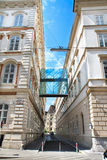 Two buildings and the bridge, Vienna, Austria Royalty Free Stock Photography