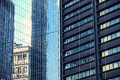 Two buildings glass walls. Stock Photography