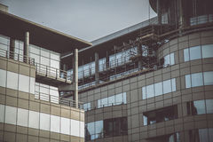 Two buildings in Manchester. Wiev Royalty Free Stock Images