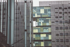 Two buildings in Manchester. Wiev Stock Image