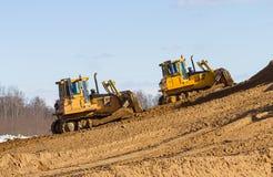 Two bulldozer at Work Royalty Free Stock Image