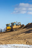 Two bulldozer at Work Stock Photography