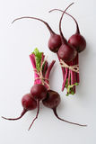 Two bunch of fresh beetroots Royalty Free Stock Photography