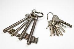 Two bunch of keys Royalty Free Stock Photo