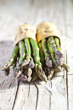 Two bunches of fresh asparagus Stock Image