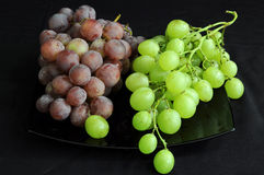 Two bunches of grape Royalty Free Stock Photos