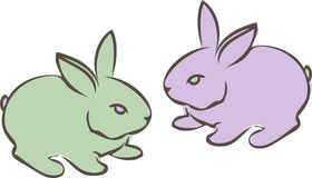 Two Bunnies Stock Image