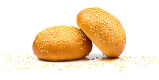 Two buns Stock Images