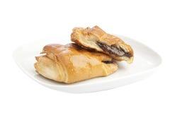 Two buns with chokolate Stock Photo