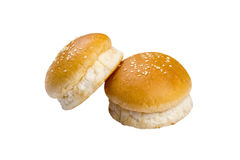 Two burger bread Royalty Free Stock Images