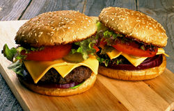 Two Burgers Stock Photo