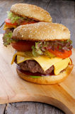 Two Burgers Stock Photos