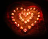 Two burning hearts Stock Photo