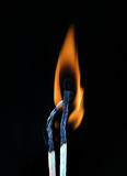 Two burning match Stock Image