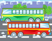 Two buses Royalty Free Stock Images