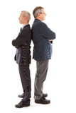 Two busines sman back to back Royalty Free Stock Photography