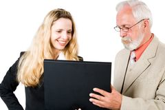 Two business associates (2) Royalty Free Stock Image