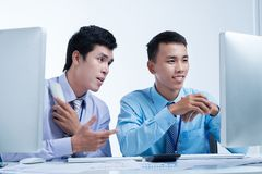 Two business brokers Royalty Free Stock Photography