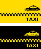 Two business card with taxi car Stock Photo