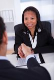 Two Business Colleague Shaking Hand Stock Images