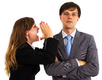 Two  business colleagues having an argument Royalty Free Stock Photography