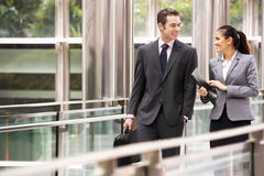 Two Business Colleagues Having Discussion royalty free stock image