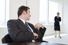 Two business colleagues in a meeting. Stock Photo