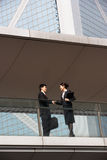 Two Business Colleagues Shaking Hands Stock Image